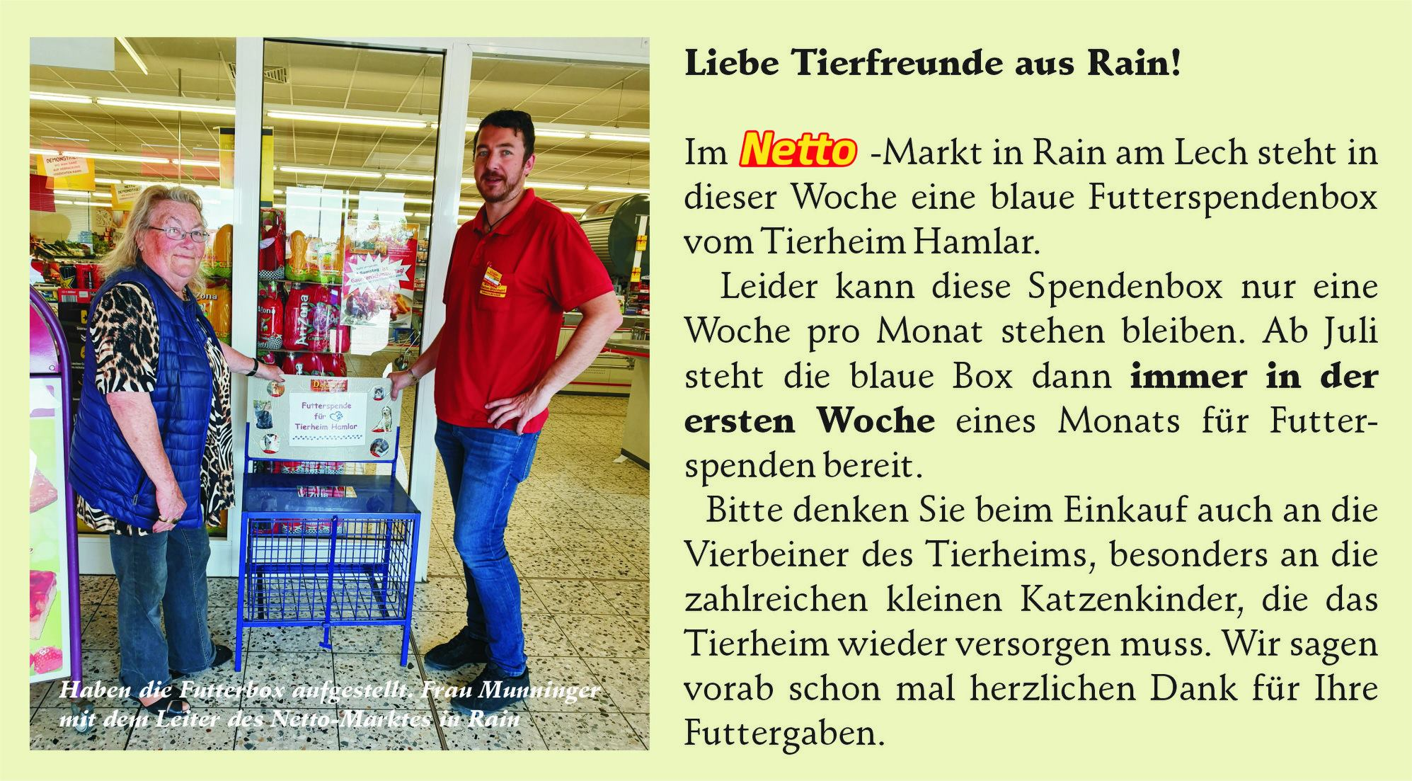 Spendenbox im Netto